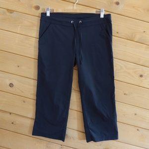 PrAna Black Bliss Capri Crop Gum Pants Drawstring